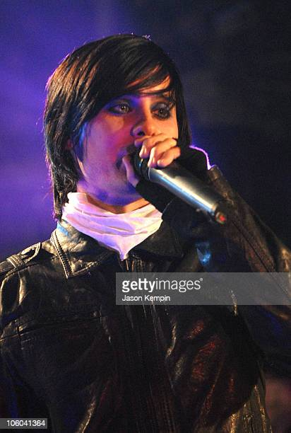 Jared Leto of 30 Seconds To Mars during 30 Seconds To Mars Appears on MTV2 All That Rocks July 6 2006 at CBGB's in New York City New York United...