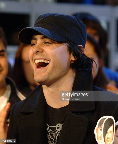 Jared Leto of 30 Seconds To Mars during Jared Leto of 30 Seconds To Mars Visits MuchMusic Studios March 30 2006 at Chum Building in Toronto Ontario...
