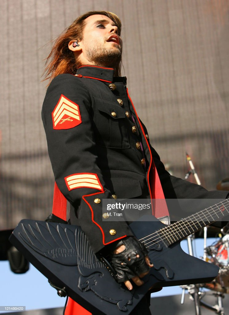 Jared Leto of 30 Seconds to Mars during KROQ Weenie Roast Y Fiesta 2007 - Show at Verizon Amphitheater in Irvine, California, United States.