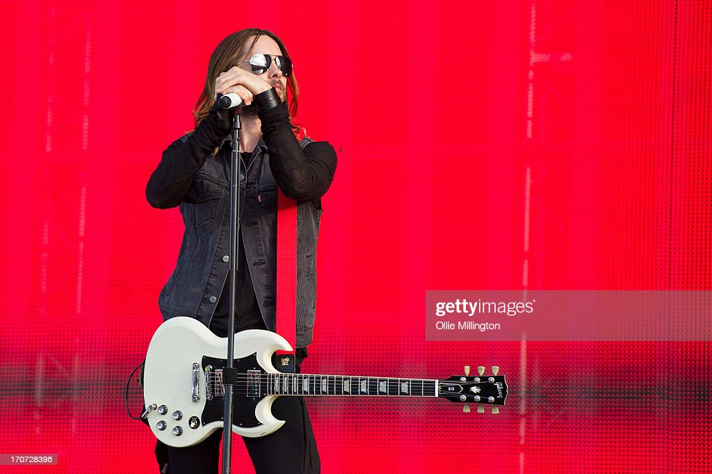 Jared Leto of 30 Seconds to Mars performs at Day 3 of The Download Festival at Donnington Park on June 16, 2013 in Donnington, England.