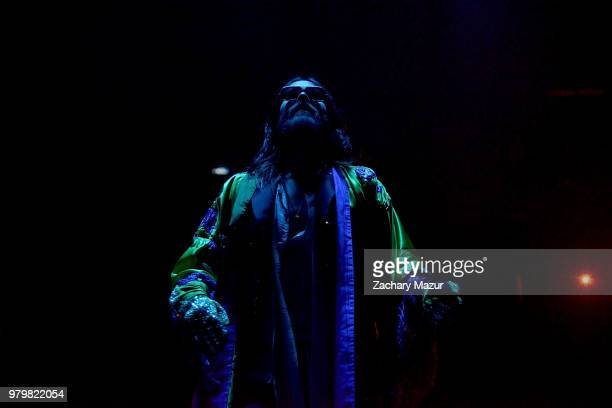 Jared Leto of 30 Seconds to Mars performs at Madison Square Garden on June 20 2018 in New York City