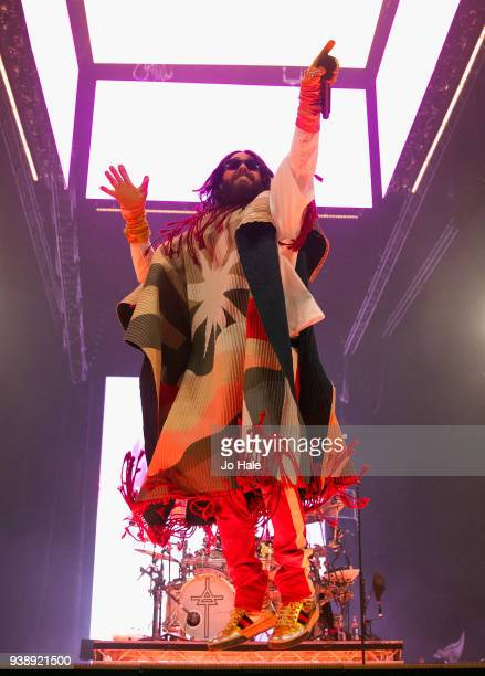Jared Leto of 30 Seconds to Mars performs at the O2 Arena on March 27 2018 in London United Kingdom