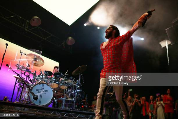 Jared Leto of 30 Seconds To Mars performs live on stage at 3Arena Dublin on May 30 2018 in Dublin Ireland