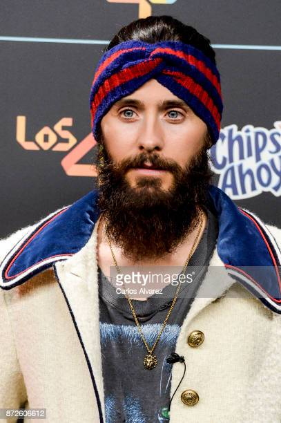 Jared Leto of Thirty Seconds To Mars music band attends 'Los 40 Music Awards' photocall at WiZink Center on November 10 2017 in Madrid Spain