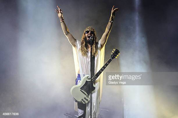Jared Leto of Thirty Seconds To Mars performs at Coliseo Jose M Agrelot on October 3 2014 in San Juan Puerto Rico