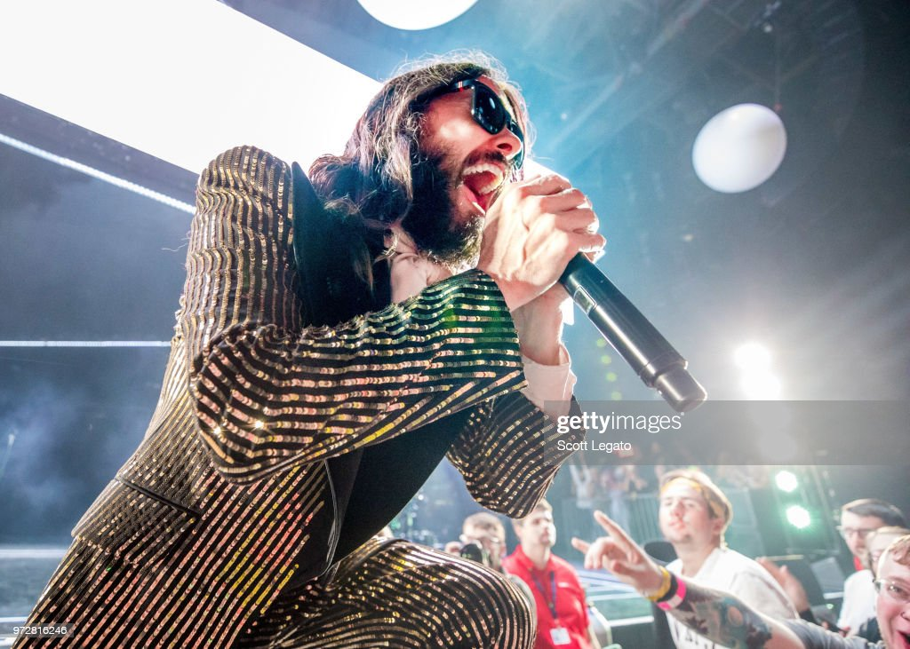 Jared Leto of Thirty Seconds To Mars performs at DTE Energy Music Theater on June 12, 2018 in Clarkston, Michigan.