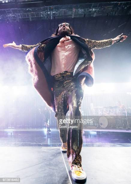 Jared Leto of Thirty Seconds To Mars performs at DTE Energy Music Theater on June 12 2018 in Clarkston Michigan