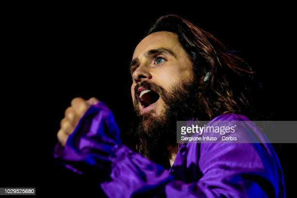 Jared Leto of Thirty Seconds to Mars performs on stage during the 2018 Milano Rocks Festival at Experience Open Air Theatre on September 8 2018 in...