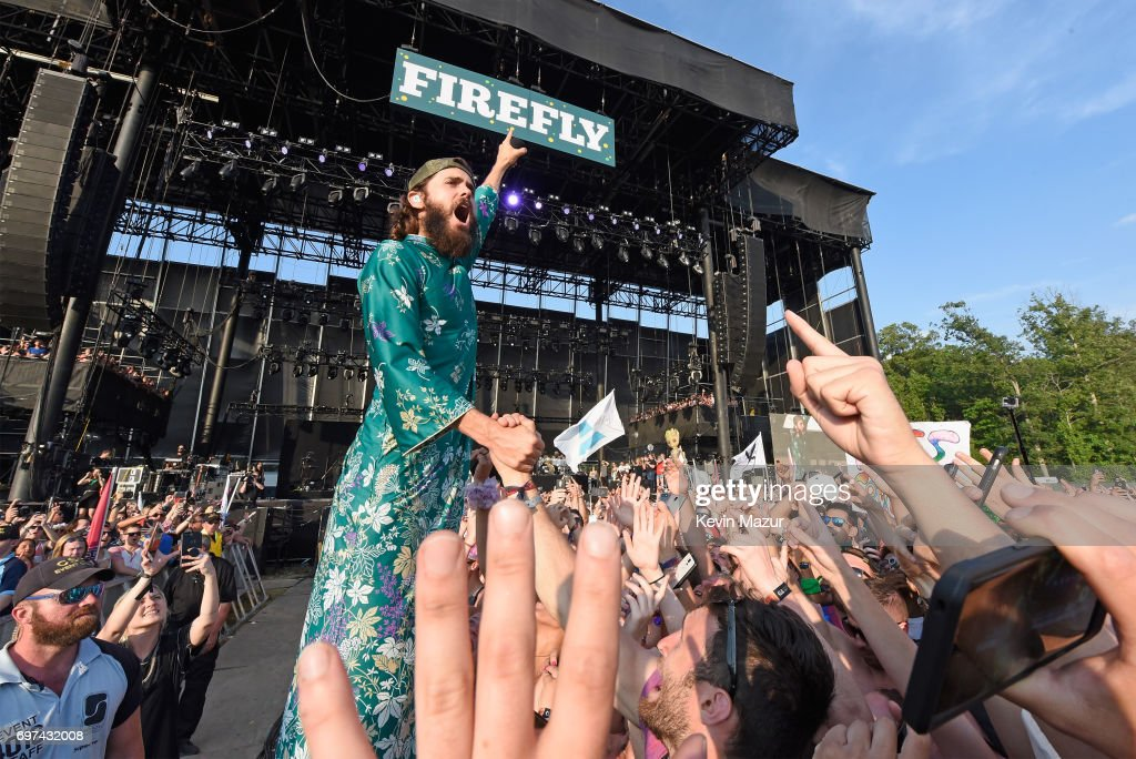 Jared Leto of Thirty Seconds to Mars performs onstage during the 2017 Firefly Music Festival on June 18, 2017 in Dover, Delaware.