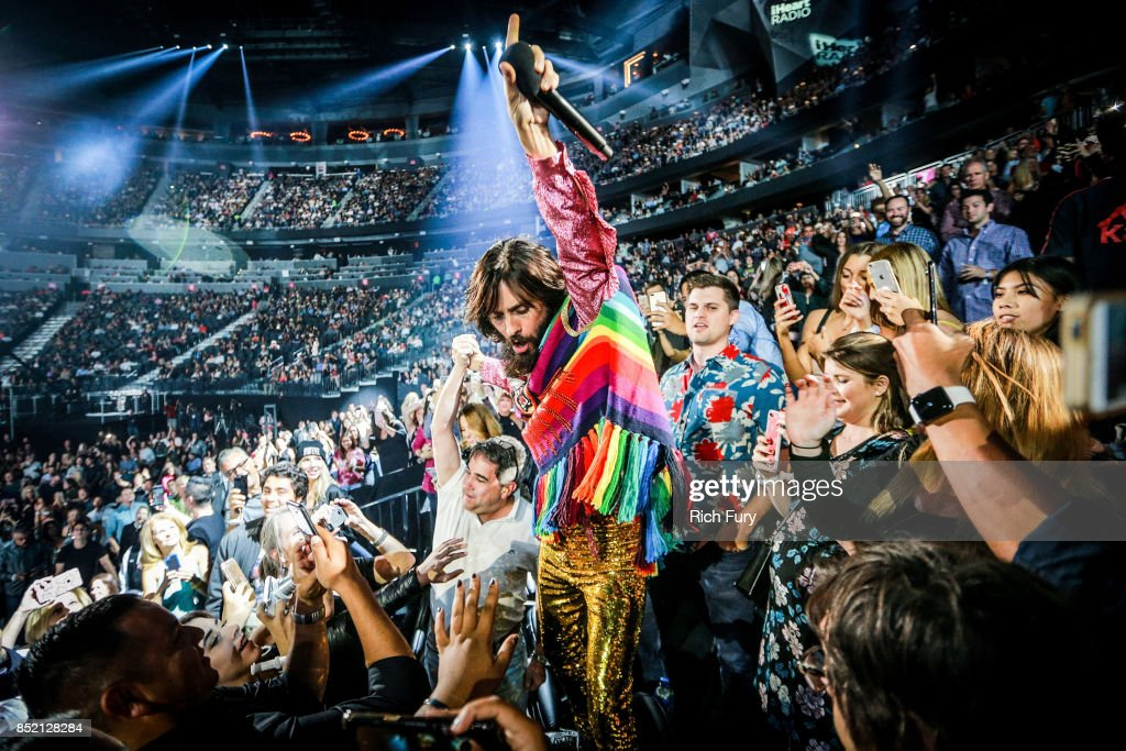 Jared Leto of Thirty Seconds to Mars performs onstage during the 2017 iHeartRadio Music Festival at T-Mobile Arena on September 22, 2017 in Las Vegas, Nevada.