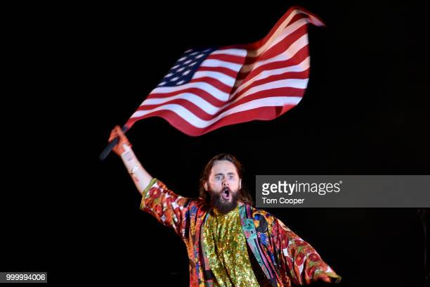 Jared Leto of Thirty Seconds to Mars performs the Channel 933 Big Gig concert at Fiddler's Green Amphitheatre on July 15 2018 in Englewood Colorado