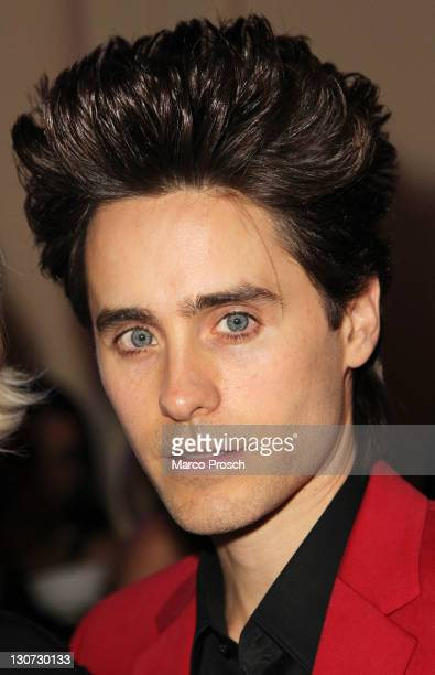 Jared Leto poses after the GQ Man of the Year Award 2011 at Komische Oper on October 28 2011 in Berlin Germany