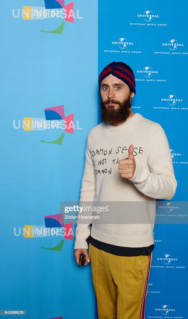 Jared Leto poses for a photo during Universal Inside 2017 organized by Universal Music Group at Mercedes-Benz Arena on September 6, 2017 in Berlin, Germany.