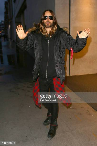 Jared Leto seen at BBC Radio One on January 29 2014 in London England