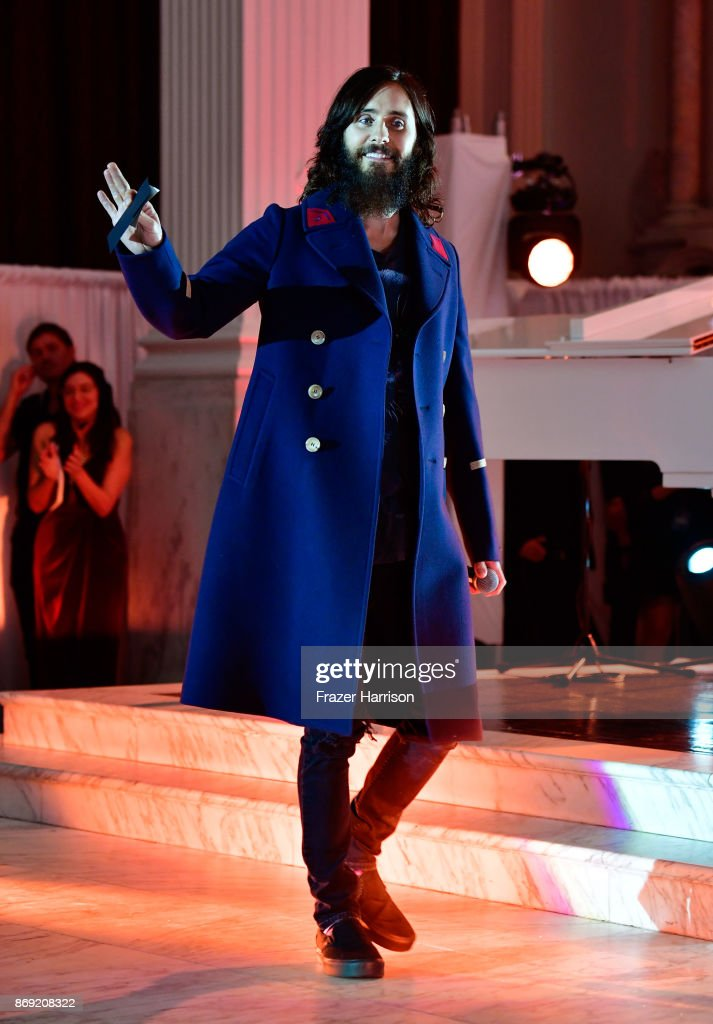 Jared Leto speaks onstage during Spotify's Inaugural Secret Genius Awards hosted by Lizzo at Vibiana on November 1, 2017 in Los Angeles, California.