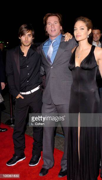 Jared Leto Val Kilmer and Angelina Jolie during 'Alexander' Los Angeles Premiere Red Carpet at Grauman's Chinese Theatre in Hollywood California...