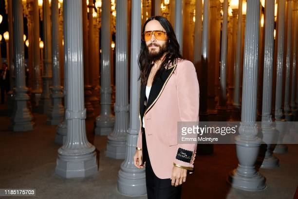 Jared Leto wearing Gucci attends the 2019 LACMA Art Film Gala Presented By Gucci at LACMA on November 02 2019 in Los Angeles California