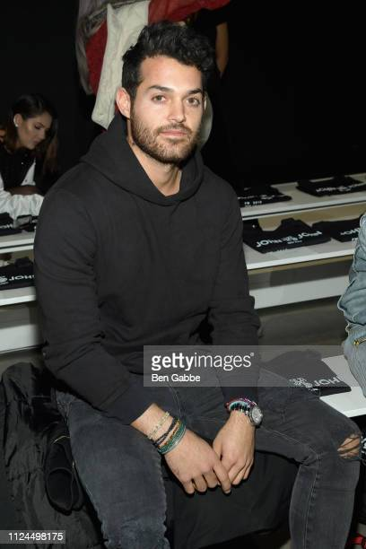 Jared Lyons attends the John John Fashion Show during New York Fashion Week at Gallery I at Spring Studios on February 12 2019 in New York City