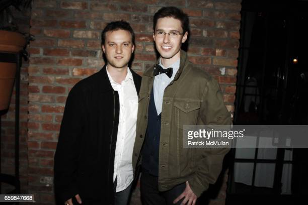 Jared Mauskopf and Andrew Nodell attend John Whitledge of Trovata Hosts 3rd Annual Art Rocks NY Benefit at Bowery Hotel on November 12 2009 in New...