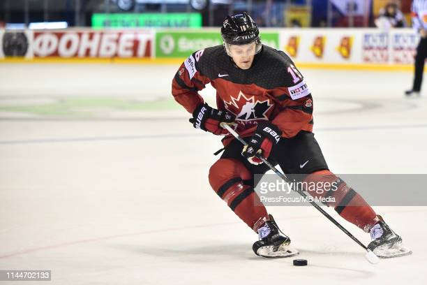 Jared McCann of Canada in action during the 2019 IIHF Ice Hockey World Championship Slovakia group A game between Canada and Germany at Steel Arena...