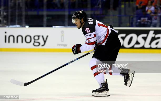 Jared McCann of Canada skates against Finland during the 2019 IIHF Ice Hockey World Championship Slovakia group A game between Finland and Canada at...