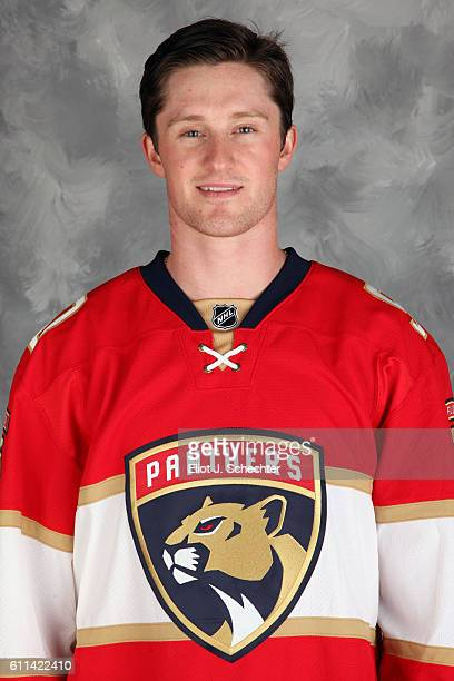 Jared McCann of the Florida Panthers poses for his official headshot for the 20162017 season on September 22 2016 at the BBT Center in Sunrise Florida