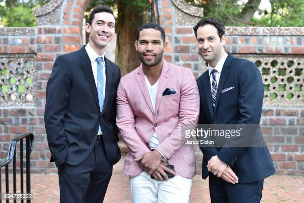 Jared Moses Shuller Giallard and DJ Martial attend the 21st Annual Hamptons Heart Ball at Southampton Arts Center on June 10 2017 in Southampton New...