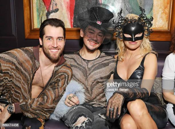 Jared Murillo Prince Azim of Brunei and Pamela Anderson attend the launch of Pamela Anderson's exclusive Coco De Mer collection at Morton's on...