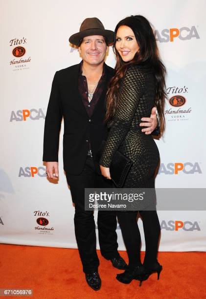 Jared Niemann and Morgan Petek attend ASPCA After Dark cocktail party at The Plaza Hotel on April 20 2017 in New York City