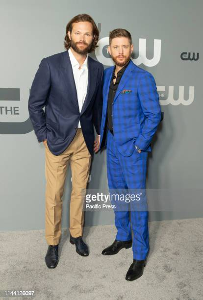 Jared Padalecki and Jensen Ackles attend CW Network Upfront at New York City Center