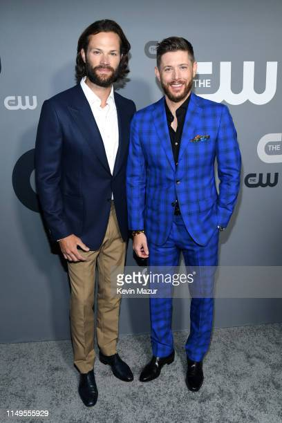 Jared Padalecki and Jensen Ackles attend the The CW Network 2019 Upfronts at New York City Center on May 16 2019 in New York City