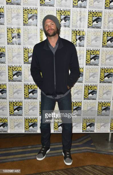 Jared Padalecki attends the Supernatural special video presentation and QA during ComicCon International 2018 at San Diego Convention Center on July...