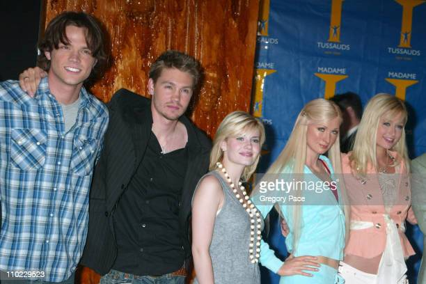 Jared Padalecki Chad Michael Murray Elisha Cuthbert Paris Hilton wax figure and Paris Hilton