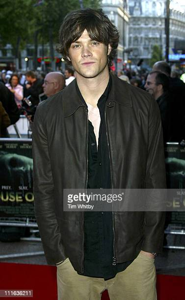 Jared Padalecki during 'House of Wax' London Premiere Arrivals at Vue Leicester Square in London Great Britain