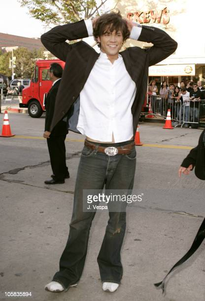 Jared Padalecki during 'House of Wax' Los Angeles Premiere Red Carpet at Mann Village Theater in Los Angeles California United States
