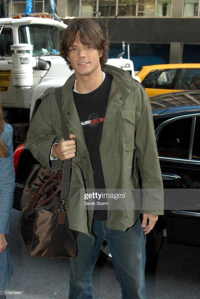 Jared Padalecki Outside WB11 Morning News Studio - May 4, 2005
