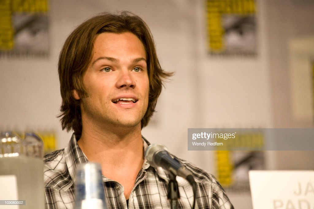 Jared Padalecki speaks at the Supernatural panel at Comic-Con on July 25, 2010 in San Diego, California.