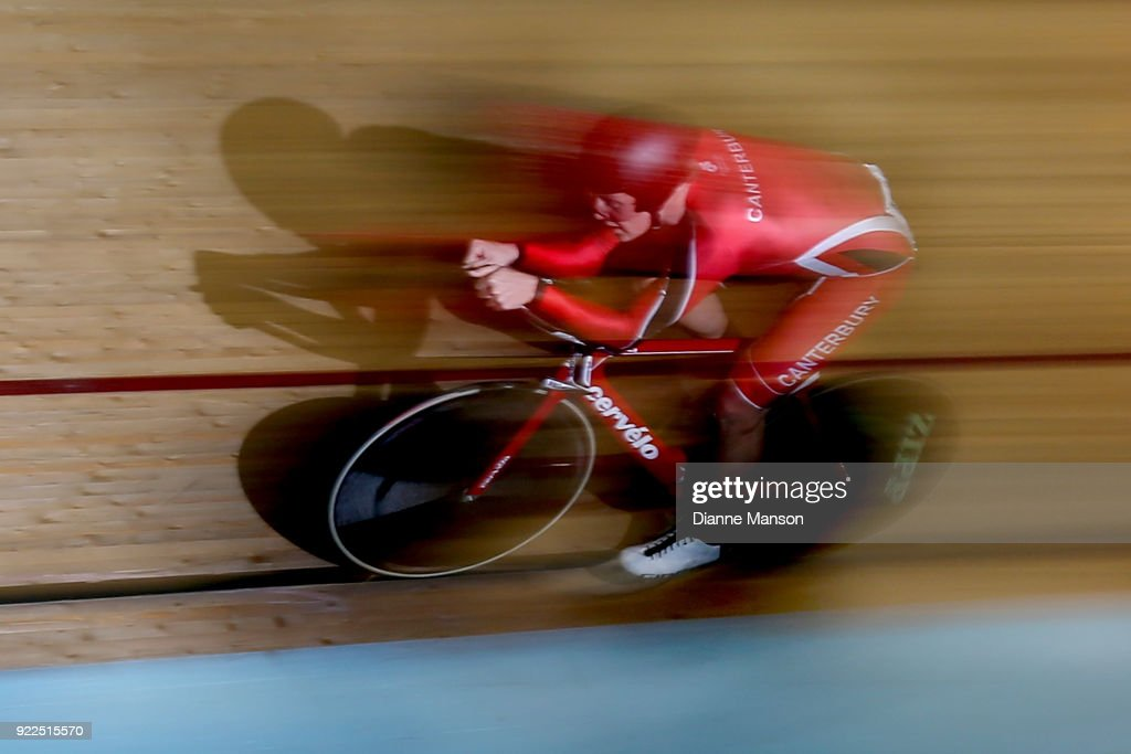 Jared Pidcock of Canterbury competes in the U19 Men 3000m IP during the New Zealand Track Cycling Championships on February 22, 2018 in Invercargill, New Zealand.