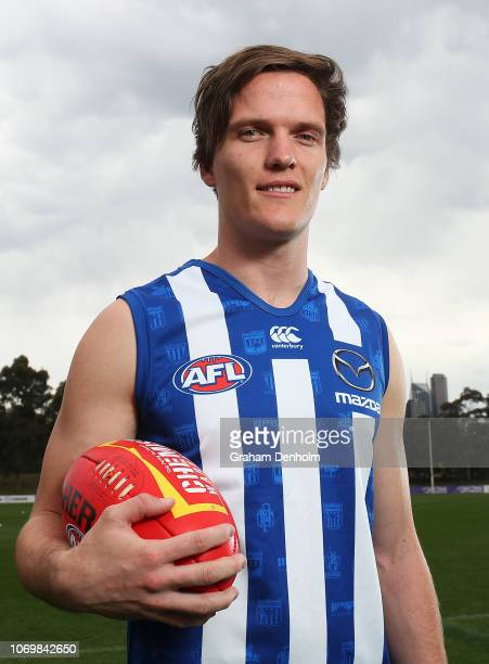 Jared Polec of the Kangaroos poses during a North Melbourne Kangaroos AFL media opportunity at Arden Street Ground on November 20 2018 in Melbourne...