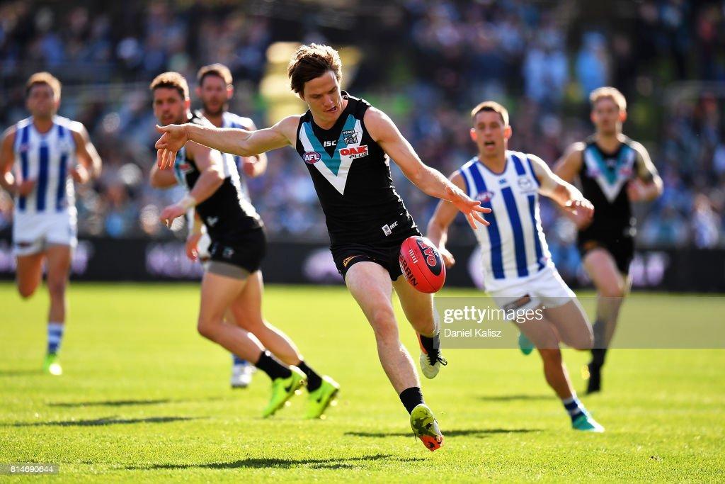 AFL Rd 17 - Port Adelaide v North Melbourne : News Photo