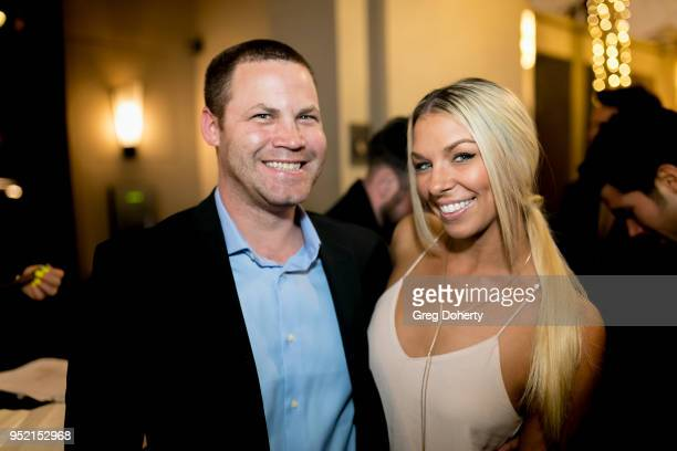 Jared Safier and Tara Talkington attend The Bay's PreEmmy Red Carpet Celebration at 33 Taps Hollywood on April 26 2018 in Los Angeles California