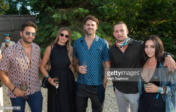 Jared Schwadron, Danielle Edwards, Alex Pall, Tal Alexander and Sara Goldfarb attend the Hamptons Magazine x The Chainsmokers VIP Dinner at The Barn...