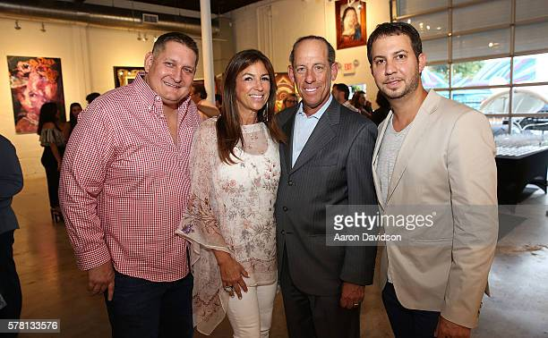 Jared Shapiro Arlene Chaplin Wayne Chaplin and Courtland Lantaff attend Peter Tunney Ocean Drive Magazine cover debut at Wynwood Walls on July 20...