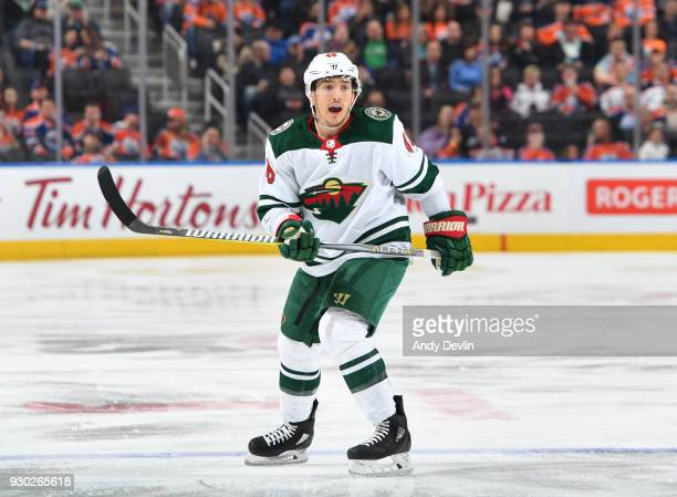 Jared Spurgeon of the Minnesota Wild skates during the game against the Edmonton Oilers on March 10 2018 at Rogers Place in Edmonton Alberta Canada