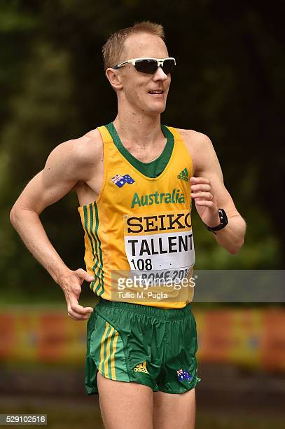 Jared Tallent in action during the 50KM Race Walk at IAAF Race Walking Team Campionship Rome 2016 on May 7 2016 in Rome Italy