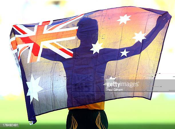 Jared Tallent of Australia wins the bronze medal in the Men's 50km Race Walk final during Day Five of the 14th IAAF World Athletics Championships...