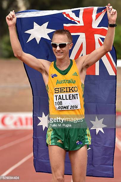 Jared Tallent wins second place of the 50KM Race Walk at IAAF Race Walking Team Campionship Rome 2016 on May 7 2016 in Rome Italy