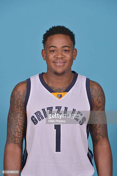Jarell Martin of the Memphis Grizzlies poses for a head shot during the 20162017 Memphis Grizzlies Media Day on September 26 2016 at FedExForum in...