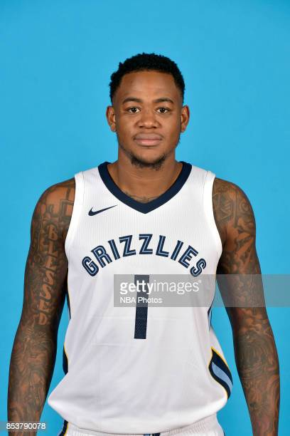 Jarell Martin of the Memphis Grizzlies poses for a head shot during Memphis Grizzlies Media Day on September 25 2017 at FedExForum in Memphis...