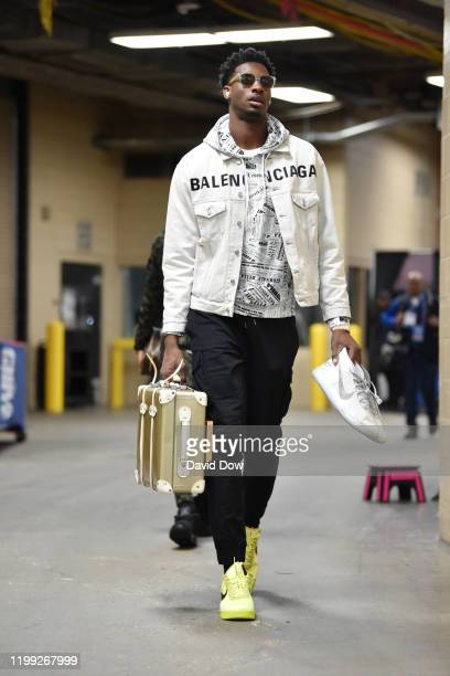 Jaren Jackson Jr #13 of the Memphis Grizzlies arrives for the game against the Philadelphia 76ers on February 7 2020 at the Wells Fargo Center in...